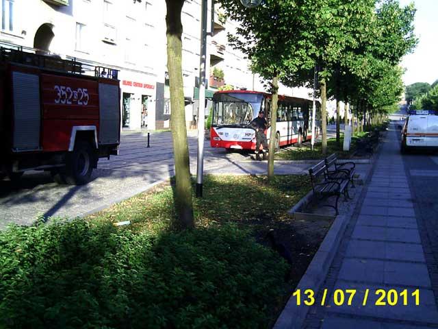 Autobusy w III alei NMP